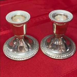 Vintage Dughin Sterling Weighted Candle Holders 🌹